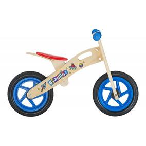 Bicicleta De Madera Bianchi Kids Wooden Bike Niño Azul 2019
