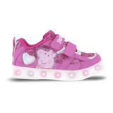 Zapatillas Con Luces Led Usb Peppa Pig Footy 963 Mundomanias