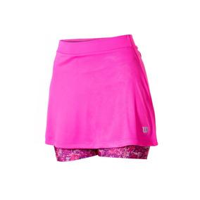 Falda Femenina Wilson - Saia Shorts Tour Inf W Rosado/rosado
