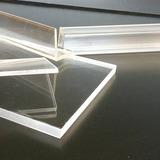Lámina Acrílico Cristal 3mm 25x25cms Útil Para Grabado