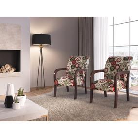 Poltrona Decorativa Elise Cadeira Sala Móveis