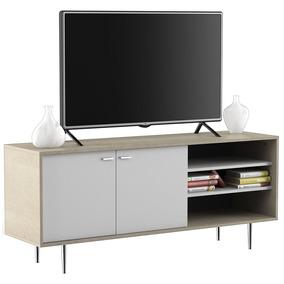 Rack De Tv Centro Estant Evo 140 Erh140 Blanco