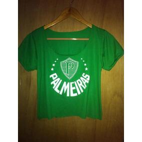 303556cc28 Cropped Palmeiras Feminina - Calçados