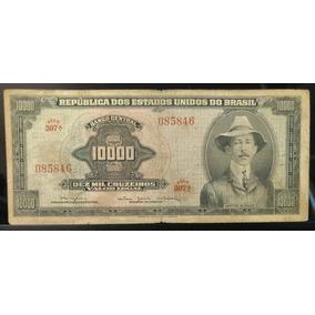 Rara Cédula De Cr$ 10.000,00 Santos Dumont Original