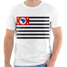 Camiseta Bandeira De Sao Paulo - Camisetas Manga Curta Masculino no ... 88edbeae4f8bf