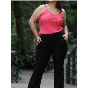 Calça + Body Feminino Flare Plus Size Estilo Social