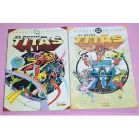 Hq Os Novos Titas Grandes Classicos Dc Volumes 1 E 2 Panini