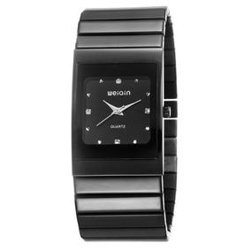 80cc1ea3771 Relógio Feminino Weiqin W0057g Analógico Casual Preto Com Nf