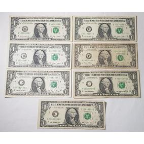 7 Notas Cédulas De Um (1) Dólar Americano