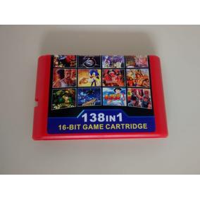Cartucho Mega Drive Multi Games 138 Jogos Em 1 Ótima Seleção