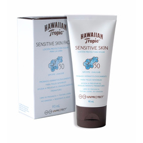 Protector Solar Facial Hawaiian Tropic Sensitive 50 Spf 90ml