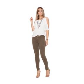 Calça Sarja Feminina Trend Cigarrete Cintura Intermediária G