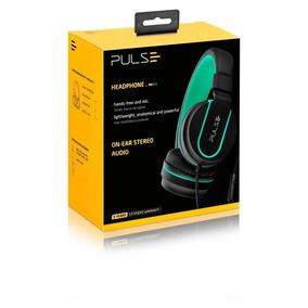 Headphone On Ear Stereo Preto/verde - Pulse