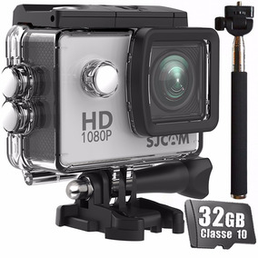 Câmera Sjcam Sj4000 Original 1080p Tela Bastão + Cartão 32gb