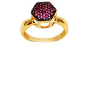 3b45618000cd8 Anel Chuveiro Zirc Nia Folheado Ouro 18k - Anéis com o melhor preço ...