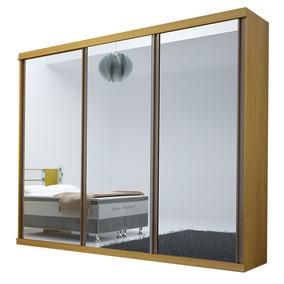 Guarda-roupa Brilhante Com Espelhos - 3 Portas - 100% Mdf -