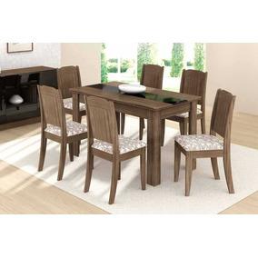 Mesa De Jantar Bábara 6 Cadeiras    Preço Bom Somente Rj