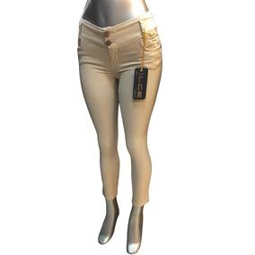 Pantalones Jeans Skinny Gabardina Entubados Casual Dama