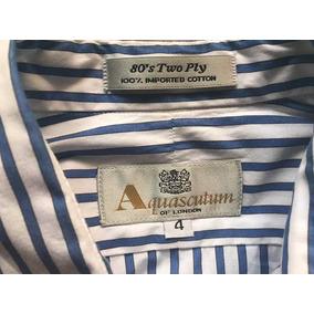 Camisa A Rayas Aquasculum Con Mancuernillas