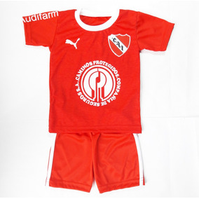 Conjunto Independiente Bebe Camiseta Y Short Futbol Remera