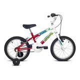 Bicicleta Infantil Aro 16 Verden Ocean - Branca/vermelha