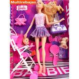 Muñeca Barbie / Set De Barbie De Caucho Con Asesorios