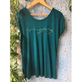 Camiseta Verde Viscose Roupa Para Meditação E Yoga