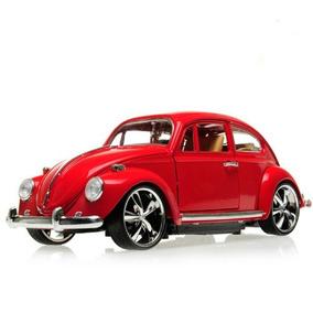 Miniatura Metal Volks Fusca Beetle 1967 Tunado Vermelho 1/18