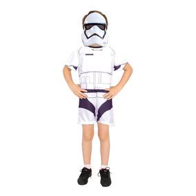 Fantasia Stormtrooper Curto Star Wars Infantil Disney