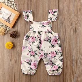 Vestidos Romper Jumpsuit Pantalon Satin Flore Para Bebe Niña