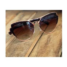 Óculos Solar Espelhado Rose Gold Feminino Gatinho Dourado 4b3b41826d