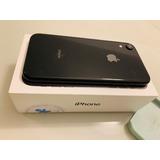 iPhone Xr 64 Gb 30 Dias De Uso, Preto, 2 Cases, Nota Fiscal