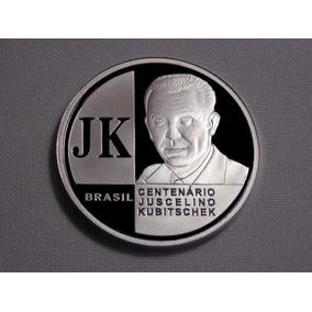 Moeda De Prata Pura- Fc - Centenário Juscelino Kubitschek Jk