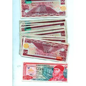 Billete Antiguo L México De Veinte Pesos O 1970 S13