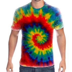 Camiseta Tie Dye - Camisetas no Mercado Livre Brasil ab55a893ad5
