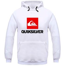 2994eec60a71a Blusa De Frio Quiksilver - Moletom Branco no Mercado Livre Brasil