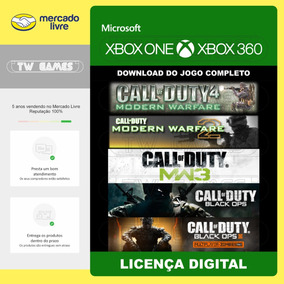 Pacote Call Of Duty - 5 Jogos - Digital - Xbox One Xbox 360
