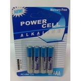 Pila Alkalina Power Cell Aaa 1.5 V Pack * 4 Free Mercury