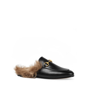 Gucci Princetown Sleepers Con Fur