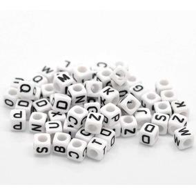 100 Letras De Cubo Con 4 Caras Marcadas Blancas Con Negro