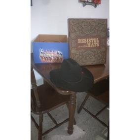Sombrero Resistol Negro Con Flor Roja 24320013b86