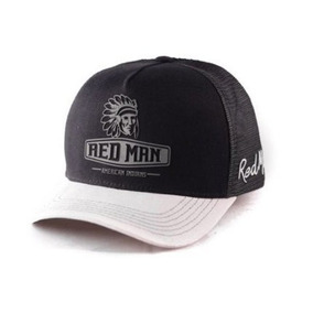 Boné Redman Red Man Original Aba Curva O Boné Do Índio 22340 f7206b27533