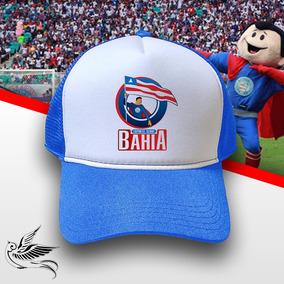 Boné Esporte Clube Bahia Azul Branco Trucker Frete Grátis 905166a9c77