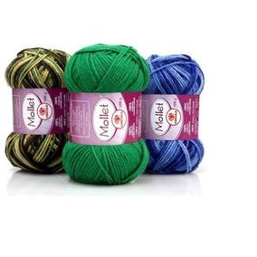 Lã Mollet 100 Gramas Circulo Kit Com 15 Unidades