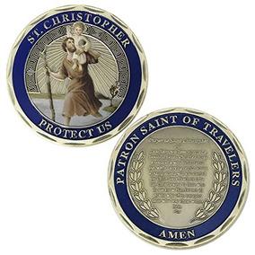 St Christopher Coin Challenge Protéjanos Santo Patrón De Via