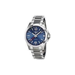 Longines L36874996 Conqest Gmt Automatic Mens Watch - Blue D