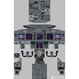 Póster Aviación ( Panel Boeing 737 )