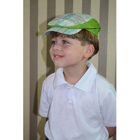 450f1d5907d18 Boina Italiana Infantil Xadrez Verde