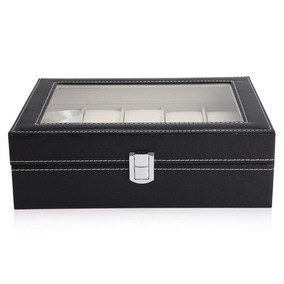 Compartimentos Polipiel Joyas Relojes Caja Organizadora 10