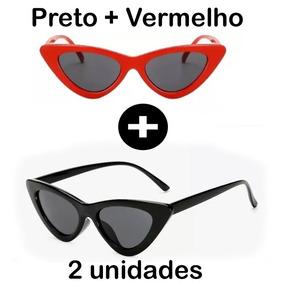 Oculos De Sol Vermelho Gatinho - Óculos no Mercado Livre Brasil e00d3cd491